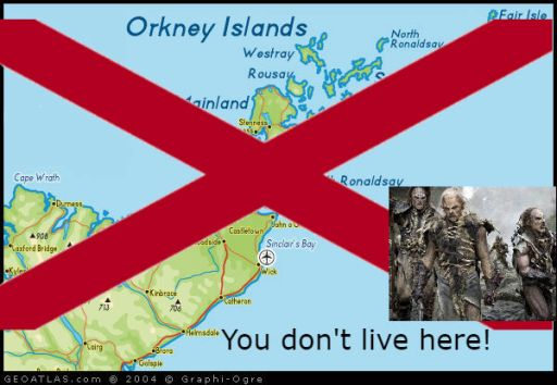 orkney islands and orks